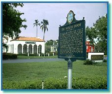 The historic train depot in Naples Florida